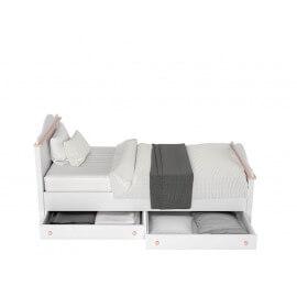 Łóżko z materacem bonellowym