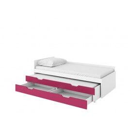 Łóżko dolne z materacem i szufladą