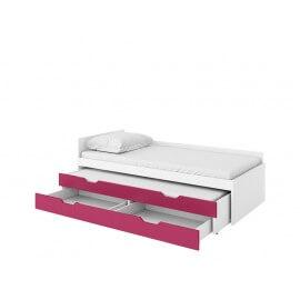 łóżko górne łóżko dolne z materacem i pojemnikiem na pościel
