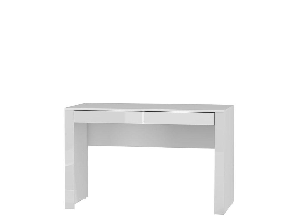 białe biurko na wysoki połysk Alaska
