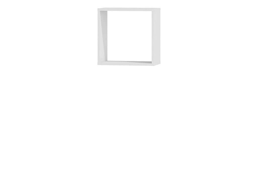 półka wisząca kostka biała
