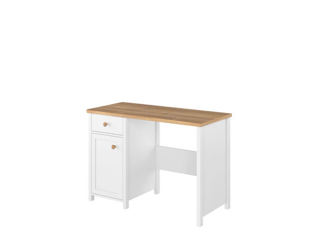 biurko z drzwiami i szufladą