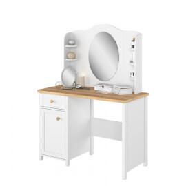 biurko z lustrem drzwiami i szufladą