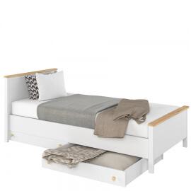 łóżko młodzieżowe z komfortowym materacem bonellowym