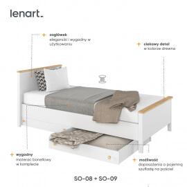 młodzieżowe łóżko z materacem bonellowym cechy