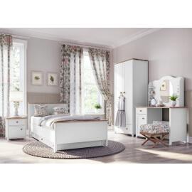 młodzieżowe łóżko z materacem bonellowym