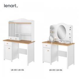 nadstawka nad biurko z półkami