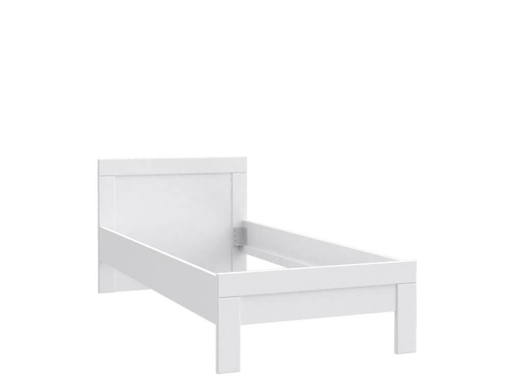 Białe łóżko młodzieżowe Snow