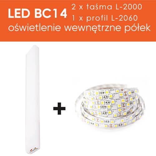 oświetlenie półek łóżka bed concept